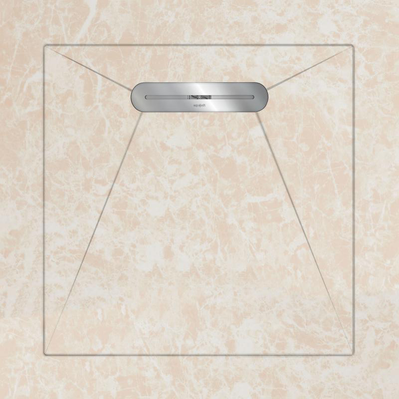 Душевой поддон Aquanit Emprador Light Beige Envelope 90x90