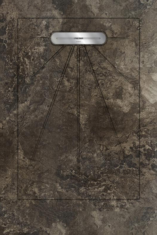 Душевой поддон Aquanit Fossil Brown Basic Line 90x135