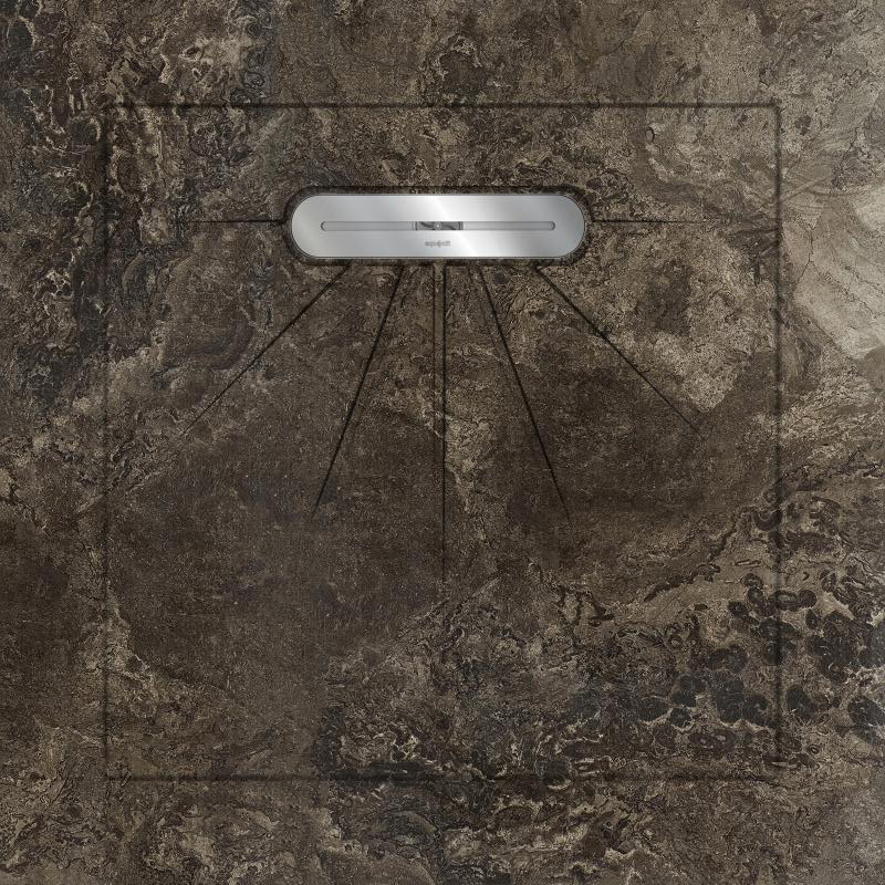Душевой поддон Aquanit Fossil Brown Basic Line 90x90