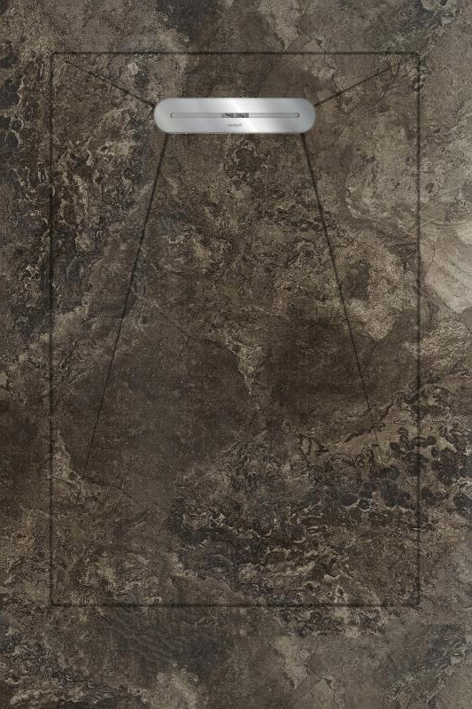 Душевой поддон Aquanit Fossil Brown Envelope 90x135