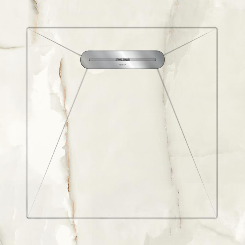 Душевой поддон Aquanit Marble White Envelope 90x90