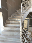 Купить готовые ступени из керамогранита, прямые ступени Opal Bone Rektifiye Parlak Nano 1200х300 для лестниц