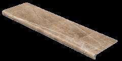 Купить на сайте Red plit Ступень из керамогранита с капиносом Seranit Коллекция Luxor Brown