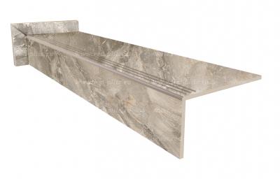 Купить ступень из керамогранита Breccia silver