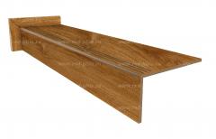 Купить ступень из керамогранита Wood Walnut