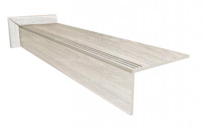 Купить ступень из керамогранита Wood Classic Bianco