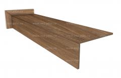 Купить ступень из керамогранита Wood Classic Natural