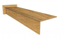 Купить ступень из керамогранита Wood Classic Ochre