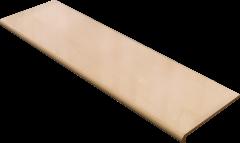 Купить Ступень из керамогранита фронтальная Venatto Pulido Peldano Ambar 1200х320х11мм с капиносом