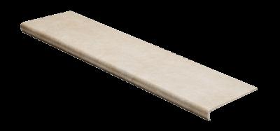 Купить ступени для крыльца структурированные противоскользящие из керамогранита с носиком Seranit Riverstone Ivory по самым низким ценам в Москве