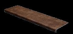 Ступень из керамогранита с капиносом Seranit Riverstone Mocha для внешнего крыльца