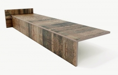 Купить на сайте Red plit Ступень из керамогранита Коллекция Antikwood Brown