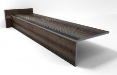 Купить Ступени из керамогранита Коллекция Oakwood Antik Brown с рельефной поверхностью противоскользящие
