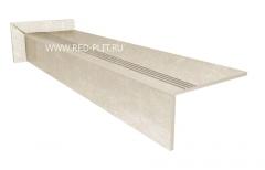 Прямые ступени из керамогранита Коллекция BETON WHITE 1200х300х10 под камень низкие цены от производителя