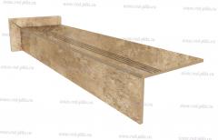 Купить готовые ступени из керамогранита, прямые ступени Force beige 1200х300 для лестниц