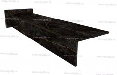 Купить готовые ступени из керамогранита, прямые ступени Sandra black 1200х300 для лестниц