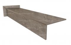 Купить ступень из керамогранита Royal pulpis grey
