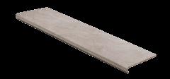 Ступени из керамогранита с капиносом Seranit TRAVERTINE NOCHE1200х325 для лестниц в дом и внешнего крыльца дома