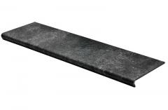 Купить керамогранитные ступени с капиносом под камень, размер 1200х325 Seranit Belgium Stone Black