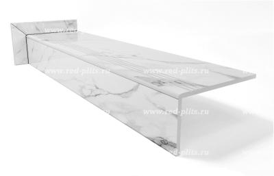 Купить ступени из керамогранита Коллекция Calcatta MonTi polished под мрамор в комплекте с подступенком и плинтусом