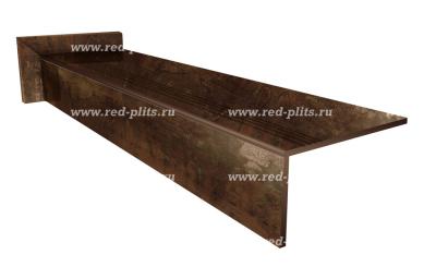 Купить ступенм из керамогранита Коллекция Heat Iron Lappato 1200х300 для лестниц в дом под металл