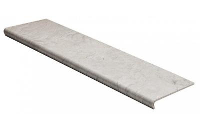 Ступени из керамогранита с капиносом Seranit, Luna, размер проступи 1200х300х10 мм, дизайн под камень, цвет -  серый