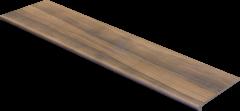 Купить Ступень из керамогранита фронтальная Exagres Maison Brandy 1200х330х11мм с капиносом для лестниц