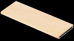 Купить Ступень из керамогранита фронтальная Venatto Pulido Peldano Beige Maya 1200х320х11мм с капиносом