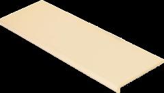 Купить Ступень из керамогранита фронтальная Venatto Pulido Peldano Blanco Perla 1200х320х11мм с капиносом
