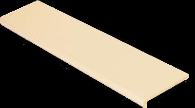 Купить Ступень из керамогранита фронтальная Venatto Pulido Peldano Blanco Perla 1600х320х11мм с капиносом