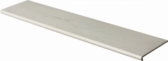 Купить Ступень из керамогранита фронтальная Venatto Pulido Peldano Gris Oceano 1600х320х11мм с капиносом