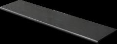 Купить Ступень из керамогранита фронтальная Venatto Pulido Peldano Nero Antracita 1600х320х11мм с капиносом