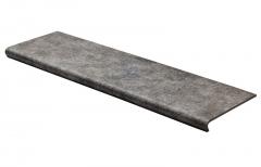 Купить ступени для крыльца и лестниц из керамогранита с капиносом Seranit Коллекция Riverstone Brown от производителя со скидкой