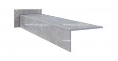 Купить прямые ступени с насечками из керамогранита для крыльца Spazio серого цвета под камень по акции