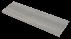 Купить Ступень из керамогранита фронтальная Venatto Texture Peldano Grain Dolmen 1200х320х11мм с капиносом