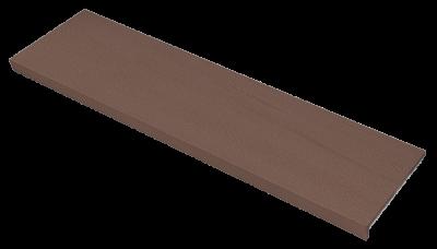 Купить Ступень из керамогранита фронтальная Venatto Texture Peldano Grain Tropico 1200х320х11мм с капиносом