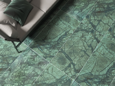 Зеленый керамогранит под мрамор 600х1200х10
