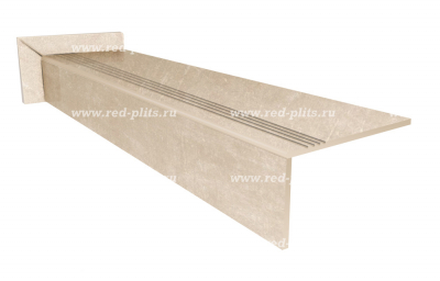 Матовые комплекты ступеней из керамогранита для лестниц в дом Vista Bone,  цвет серый, под камень со скидкой от производителя