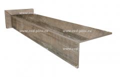 Купить ступень из керамогранита для лестницы в дом Коллекция Wood Ego серый 1200х300