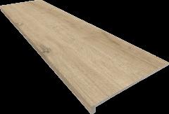 Купить Ступень из керамогранита фронтальная Exagres Yoho C-3 Oak ректификат 1200х330х11мм с капиносом