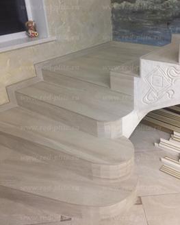Лестница из керамогранита Tsuga Bone
